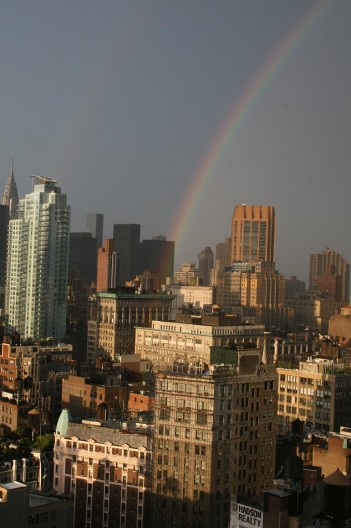 Rainbow in NYC