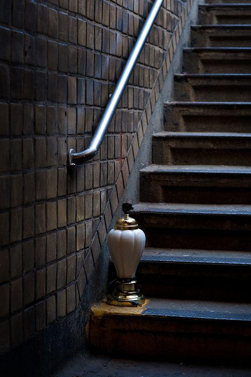 Subway-steps-lamp
